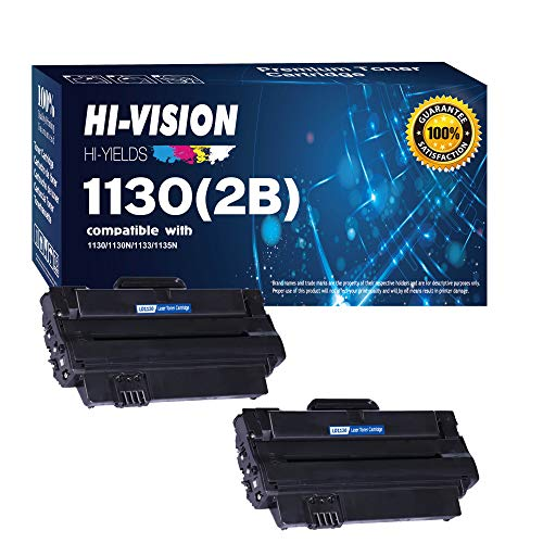 HI-VISION HI-YIELDS Compatible Toner Replacement 330-9523 (7H53W) High Yield for Dell 1130 1130n 1133 1135 1135n (Black, 2-Pack)