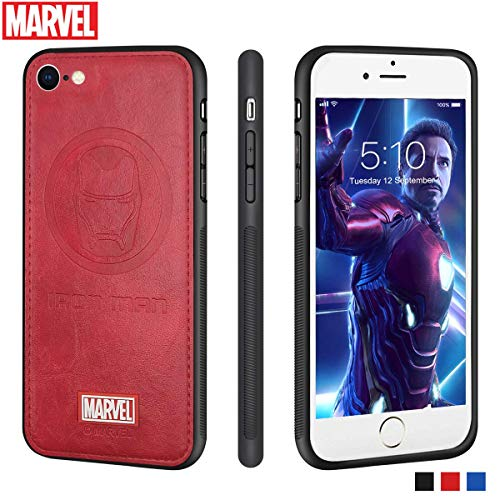 Funda iPhone 8 / iPhone 7 Carcasas Protectora Marvel Avengers para Celular Funda TPU Funda de Cuero 3D Premium Resistente a los Arañazos