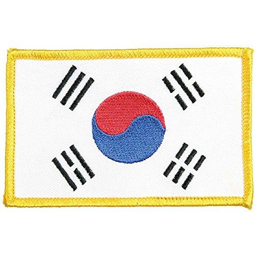 DEPICE Abzeichen Korea Flagge Stickabzeichen Aufnäher gestickt Patch
