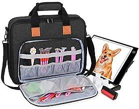Luxja Draagtas voor A4-lichtpad en diamantschildergereedschap, tas voor diamond painting, lichtbakken en accessoires (gesc...