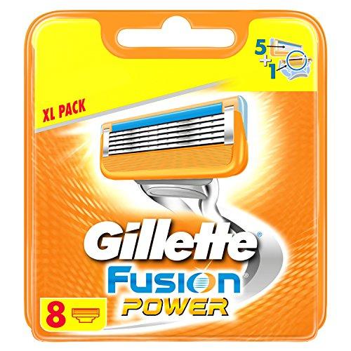 Gillette Fusion Power - Cuchillas de afeitar para hombres (8