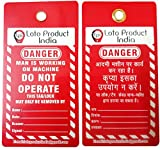 Loto Product India Lockout Tagout Danger Do not Operate Red Tags - Set of 10