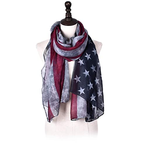 c8cc1743d7a LRRH Vintage Faded American Flag Scarf Red White   Blue Scarf   4th of July