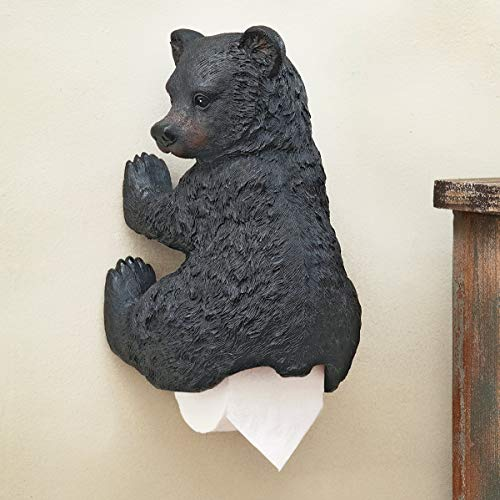 Top 10 best selling list for zeckos cute black bear cub toilet paper roll holder nature