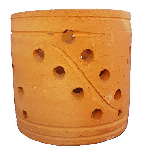 Pot en argile pour orchidées - 12 cm - Fabriqué à la main - Design décoratif