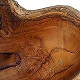 Cepewa Holzschale XL aus Teak Holz in Handarbeit gefertigt | Dekoschale | große Obstschale rund und länglich 40/60 cm (L ca. 60 cm) - 4