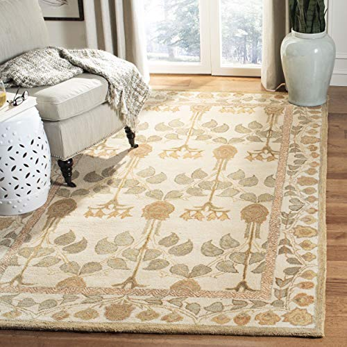 Safavieh Anatolia Collection AN542A Handmade Traditional Oriental Ivory Wool Area Rug (8' x 10')