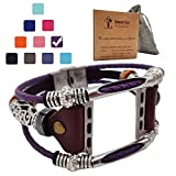 Smatiful Fashion Bands with Box Pack for Girl, Adjustable Accessories Watch Band for Apple Watch 38mm & 40mm,Lavender Purple
