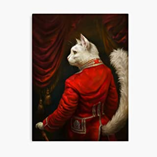 Akalin The Hermitage Court Chamber Herald Cat Edited Version 3D Canvas Printing Radon Frame Canvas Home Decorative Wall Art Painting Mural Printing 8