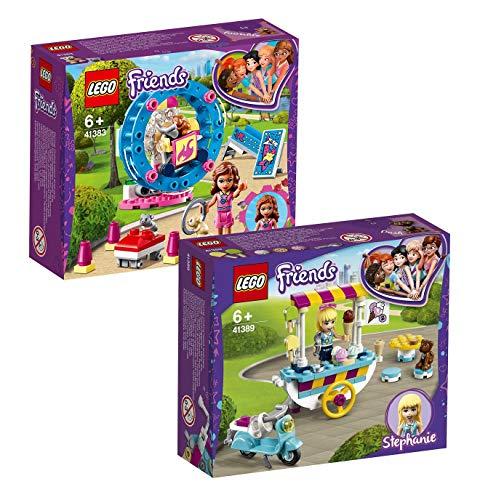 LEGO Friends 2-teiliges Set: 41383 Olivias Hamster-Spielplatz + 41389 Stephanies Mobiler Eiswagen