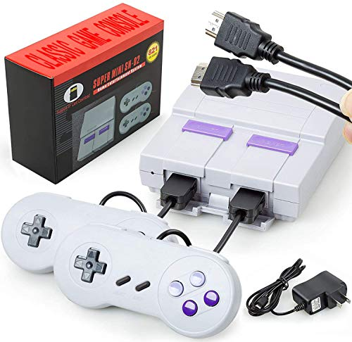 Oriflame Classic Game Console Built-in 821 Game in TF Card, with 2 Joysticks, Video Game Console, Handheld Game Player Console for Family TV HDMI HD...
