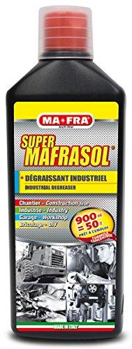 Mafra H0267, Supermafrasol, Dégraissant Industriel Concentré, Formule Hautement diluable, élimine Les Pistes raide et Les Incristations de Chaque Surface, 1 Litre