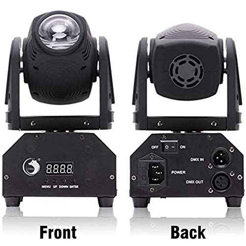 U`King LED Moving Head Light RGBW Beam Lights with DMX for Live Show DJ Disco Events Party Stage Lighting (1 Pack)
