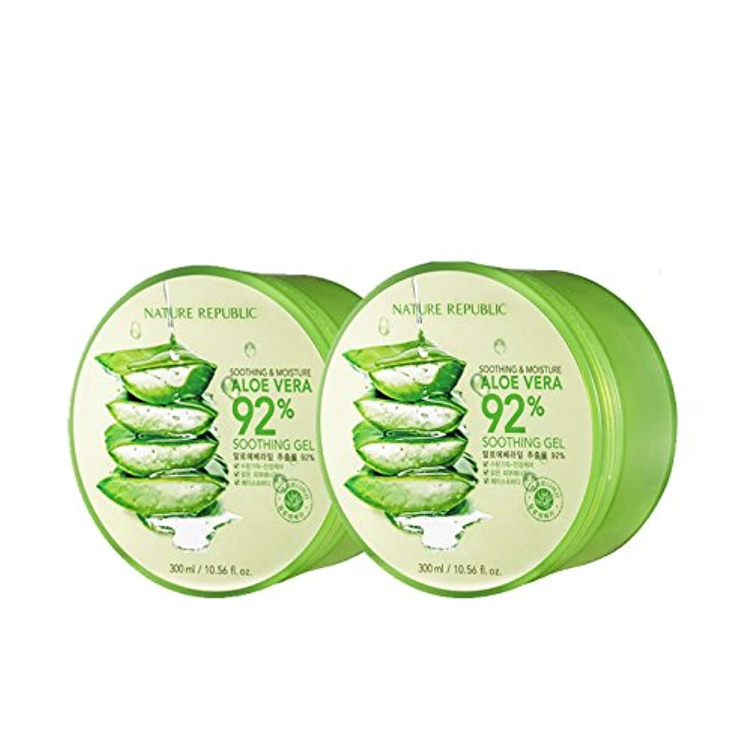 ニンニク魅惑的な懺悔[ネイチャーリパブリック]NATURE REPUBLIC/スージングアンドモイスチャーアロエベラ92%スージングジェル2つの /海外直送品/(Soothing & Moisture Aloe Vera 92% Soothing Gel(2EA)) [並行輸入品]