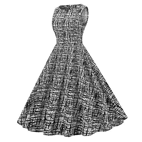 Dames jaren 50 vintage bloemenjurk A-lijn petticoat vintage jurk cocktailjurk elegante baljurk afstudeerjurk