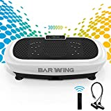 BARWING 4D Vibration Plate Exercise Machine - Triple Motor Vibration Platform Machine for Home Workouts with Resistance Bands and Remote Control White