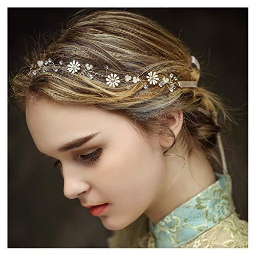Braut Haarbänder, Haar Kamm Rebe Stirnbänder Strass Haarschmuck Blumen Hochzeit Haarteile Crystal Perlen Vintage Perle Haarkranz mit Blatt