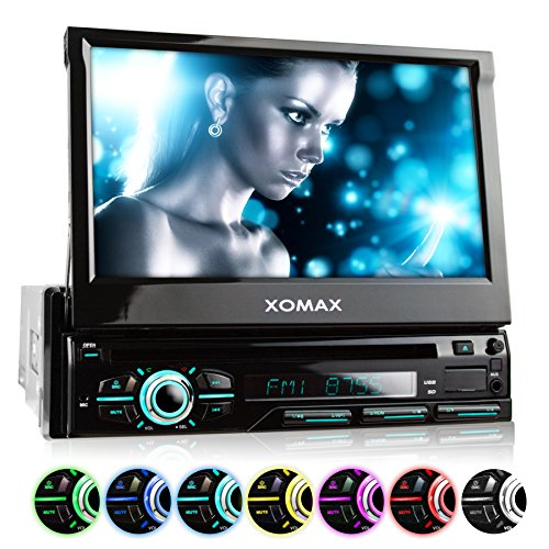 XOMAX XM-DTSB928 Autoradio con Schermo Touch Screen 7' / 18 cm, DVD, CD, Bluetooth, SD, USB, 1 DIN