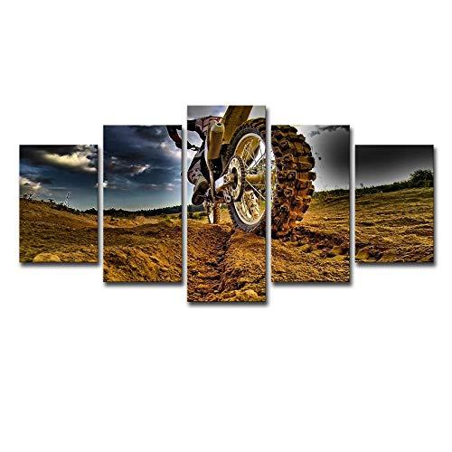 Mountainbike, 5 Sets van Schilderijen, HD Prenten, Muurschilderingen, Moderne Schilderijen, Huisdecoratie Schilderijen, Canvas afdrukken 8X14/18/22Inch Met frame