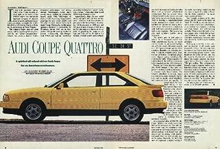 1990 AUDI COUPE QUATTRO - ORIGINAL COLOR REPORT - AUTOMOBILE MAGAZINE - USA !!