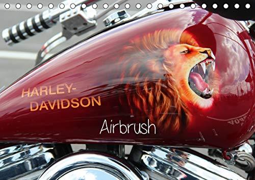 Harley Davidson - Airbrush (Tischkalender 2021 DIN A5 quer)