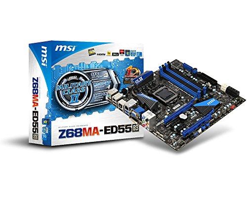 MSI Z68MA-ED55 B3 Mainboard Socket 1155 Mikro ATX DDR3 Speicher