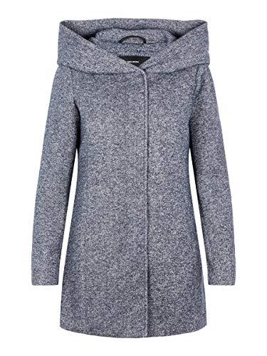 Vero Moda Vmverodona LS Jacket Noos Abrigo, Azul (Night Sky Detail: Melange), 40 (Talla del...