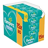 Pampers Fresh Clean - Lingettes Bébé - Lot de 15 Paquets de 80 (1200 Lingettes)