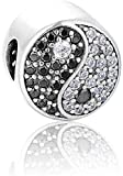 Dian Jewellery 925 Plata de Ley Yin & Yang Charm - Pulsera Charm para Charm Pandora...