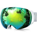 findway Gafas de Esquí,Gafas Esqui Snowboard para Hombre Mujer OTG Intercambiable Magnética