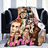 Ultra-Soft Fleece Blankets The Vampire Diaries S-Tefan S-Alvatore Warm Flannel Throw Blankets for Couch Or Living Room Bedroom Gift Idea Queen 50x40 Inch for Kid