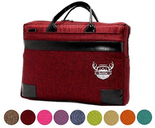 BAMBINIWELT Laptoptasche, Notebooktasche, Aktentasche, Huelle, Case in 15 oder 17 Zoll, MELIERT bordeaux (17 Zoll))