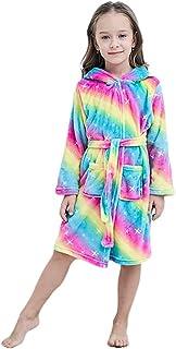 ارواب بتصميم احادي القرن للاطفال من الجنسين، ارواب ناعمة من قماش الفلانيل للنوم وكهدية للفتيات من فرروبس