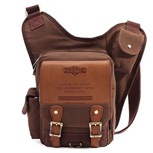 Mens Vintage Canvas Shoulder Messenger Bag – $23.99 (18% Off)