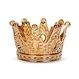 Materiale Premium: Il nostro portacandele è realizzato in materiale di vetro di alta qualità. È resistente, non si rompe, è abbastanza resistente per molto tempo. Design della corona: Il nostro portacandele è progettato a forma di corona. Il portacan...
