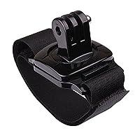 SODIAL (R)新しい調整可能なリストストラップベルクロマウント 360度回転 Go Pro GoPro Hero 1 2 3 3+ 4カメラ用 黒
