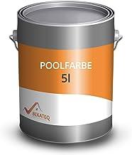BEKATEQ LS-400 Zwembadverf, 5 liter, agaatgrijs, zijdeglanzende zwembadverf voor zwembaden, vijver en fontein van beton, m...