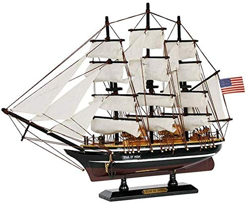 JHSHENGSHI Model Ship Military Sailboat Model, Wooden Sailboat Model, Home Decoration and Gifts, 15.4Inch X 11.8Inch for Gift For decoration