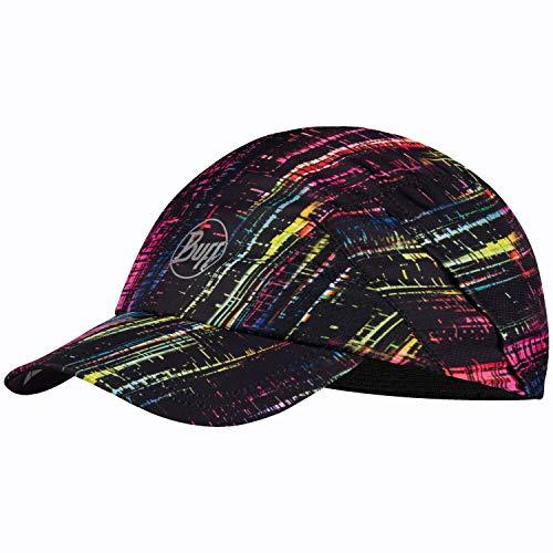 Buff Running Cap + UP Schlauchtuch Set | Kappe für Langstreckenläufer | Run Hat | UV Laufkappe atmungsaktiv elastisch | Sportkappe Joggen | Sport Cappy | R-Wira Black - 122571.999.10.00