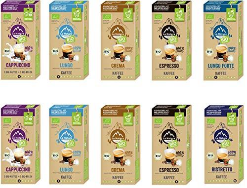 BIO Kaffee Geniesser Set - 100 industriell kompostierbare** La Natura Lifestyle Kaffeekapseln, Nespresso®* kompatibel