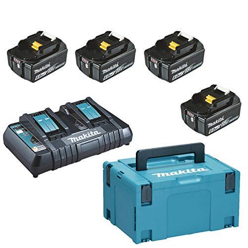 Makita 198091-4 Energie-Pack 18 V Li-Ion PSK LXT BL1860B x4 x6.0Ah DC18RD MAKPAC 3