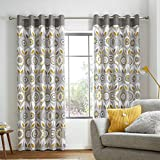 Catherine Lansfield Annika - Cortinas con Ojales (166 x 228 cm), Color Ocre