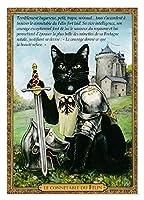 フランス製 ネコのポストカード (Le Connetable Du Felin) 騎士団 CPK154