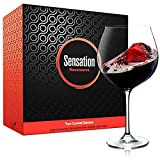 Season Story Extra Large Red Wine Glasses Set of 2 - 25 oz, wide rimmed Balloon Crystal Glass with stem, Big bowl size 4 Cabernet, tall stemmed oversized wine glass holds whole bottle, Novelty glasses