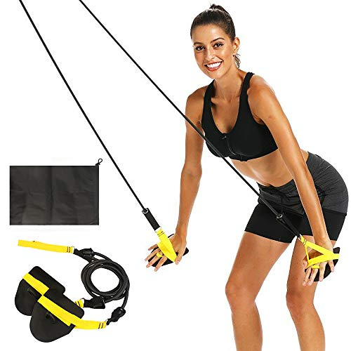 FOOING 60 pounds Swimming Arm Strength Trainer, Swimming Resistance Exercise Bands Set with Swim Paddle Fins,Professional Freestyle Swimming Arm Trainer Elastic Band for Swimming Training