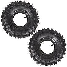 Wingsmoto 4.10-4 410-4 4.10/3.50-4 Tyre Tire + Inner Tube for Garden Rototiller Snow Blower Go Cart Kid ATV Pack of 2 Sets