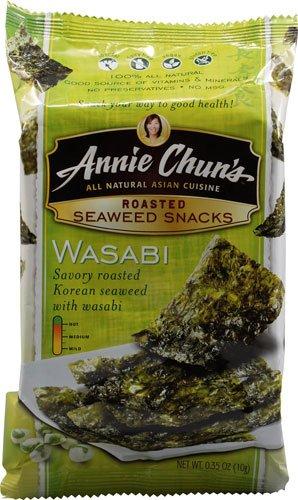 Annie Chun's Roasted Seaweed Snacks Wasabi 0.35 oz (Pack of 2)