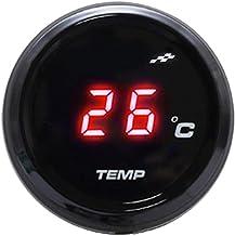 RETYLY Medición Universal De La Temperatura del Agua del Termómetro Universal De Los Instrumentos De La Motocicleta Medidor De Medidor Digital para Tmax 530 500 (Luz Roja)
