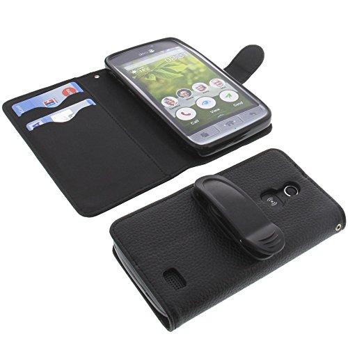 foto-kontor Tasche mit Gürtelclip für Doro 8031 Book Style schwarz Schutz Hülle Buch