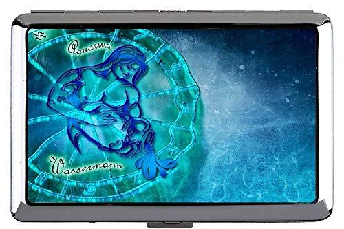 Zigarettenschachtel, Sternzeichen Wassermann Sternbild Astrologie Themen von Hard Box und Halter (King Size)